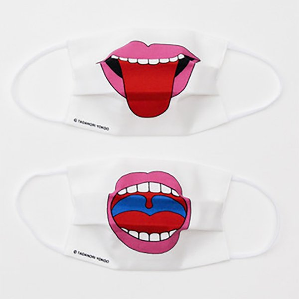 画像1: Mask : TONGUE MOUTH / OPEN MOUTH (1)