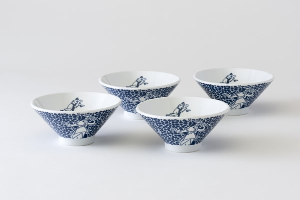 画像1: 髑髏お茶碗 4個セット (1)