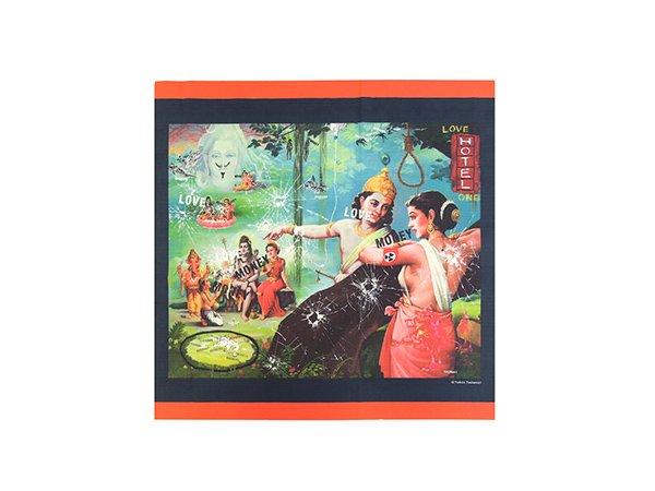 画像1: 「古典×現代2020」展 オリジナルグッズ 小風呂敷 横尾忠則 (1)