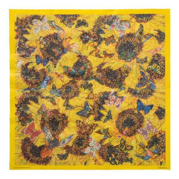 画像1: アートペーパーナプキン(Sunflowers, butterflies and birds) (1)