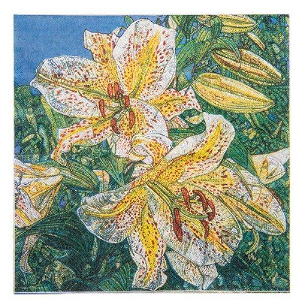 画像1: アートペーパーナプキン(Tiger Lily) (1)